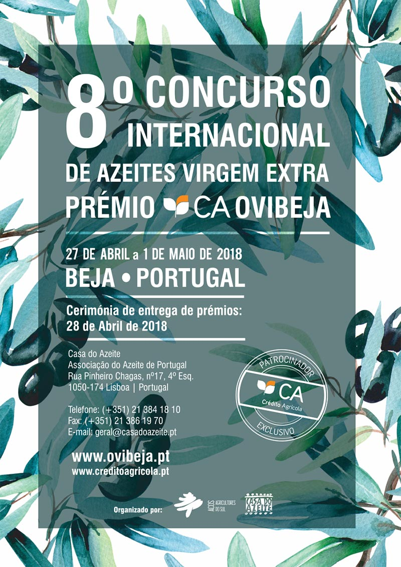8º Concurso Internacional de Azeites Virgem Extra – Prémio CA Ovibeja